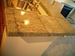 image of granite tile countertop edge