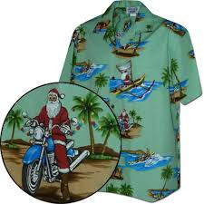 in Paradise Christmas Hawaiian Shirt Green