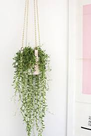 Hanging Leather Strap Planter DIY (A Beautiful Mess)