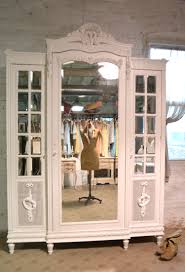Armoire Painted Cottage Chic Shabby French Mirrored Romantic Arm