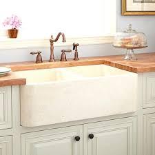 double basin farmhouse sink polished marble bowl cream ikea a85