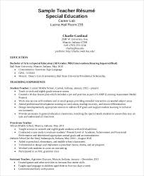 Special Education Assistant Resume Custom Teacher Resumes 48 Free Word PDF Documents Download Free