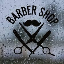 <b>Barber Shop</b> Wall Decals <b>Hairdresser Mustache</b> Vinyl Wall Sticker ...