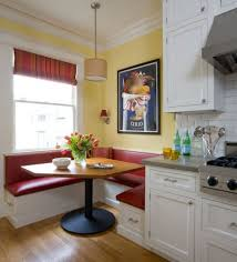 Kitchen Nook Furniture Furniture Appealing L Shaped Red Leather Kitchen Nook Wood Dining