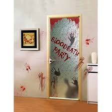 <b>Halloween Skull Blood Handprint</b> Pattern Window Wall Stickers ...