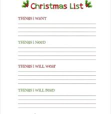 Christmas Template For Word Beauteous X List Template Present Gift Templates Free Printable Word Microsoft