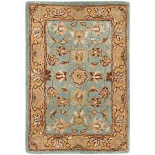 safavieh heritage blue gold 3 ft x 5 ft area rug