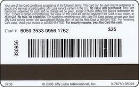Col us-jl-001 logo jiffy Jiffy Lube Card Gift Lube Barcode with Of States America United