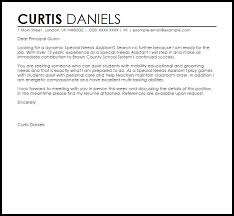 Sample Cover Letter For Special Education Job Adriangatton Com