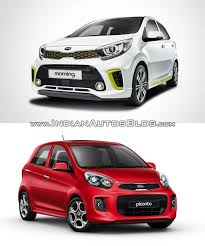 2018 kia picanto. plain 2018 2017 kia picanto vs 2015 front quarter old new intended 2018 kia picanto