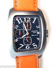 locman 487 wrist watch for men item 7 locman sport chronograph watch model 487 blue w orange strap new