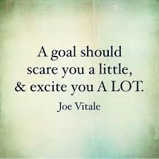 Goal Quotes A goal should scare you a little excite you a lot Joe Vitale Quote 39