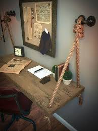 handmade office furniture. wonderful office rope u0026 wood industrial iron hardware wall mount desk floating shelf table inside handmade office furniture t