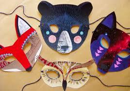 Cardboard Masks To Decorate 60 DIY Cardboard Paper Felt Masks for Halloween DIY Crafts 40