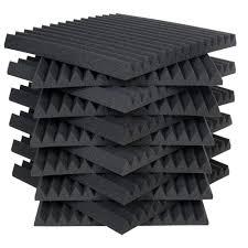 auralex auralex studiofoam wedges 2 ft w x 2 ft l x 2 in h charcoal half pack 12 panels per box 2sf22cha hp the home depot