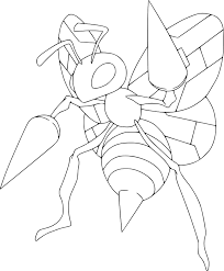 Small Picture Pokemon Beedrill coloring page