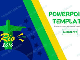 Simple And Fresh Vitality Olympic Theme Sports Ppt Template