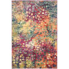 safavieh monaco pink multi 5 ft x 8 ft area rug