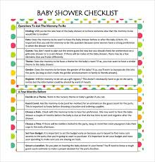 Baby Shower Checklists. Baby Shower Checklist Excel Baby Images ...