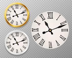 premium vector retro clock face
