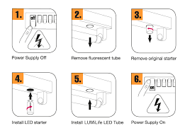 5ft t8 22w led tube light 1500mm installation steps