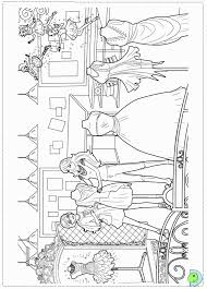 Small Picture Barbie Fashion Fairytale Coloring Pages Printable Coloring