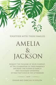 Natural Design Wedding Card Rustic Style Celebration Invitation