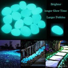2019 glow in the dark garden pebbles glow stones rocks for walkways garden path patio lawn garden yard decor luminous stones from numberoneaction