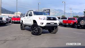 2012 Toyota Tacoma Crew Cab Short Bed Lifted White - Utah Motor ...