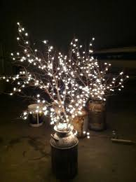 diy wedding reception lighting. DIY Why Spend More: Milk Cans + Branches White Lights For Wedding Reception Lighting Diy