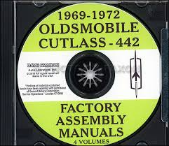 1969 olds cutlass f 85 442 wiring diagram manual reprint 1969 1972 oldsmobile cutlass 442 cd rom assembly manuals