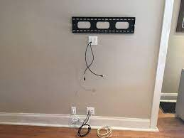 in wall vertical wire concealment