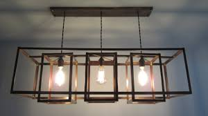 diy custom hanging antique recangle farmhouse chandelier with metal shades ideas