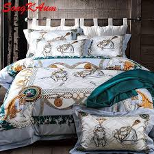 luxury brand bedding set 100 pima cotton bed set noble palace royal bed linens duvet cover bed sheet queen king country bedding sets funky bedding from
