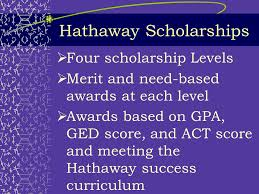 Hathaway Scholarship Chart Provided By Discussion Topics Types Of Aid How To