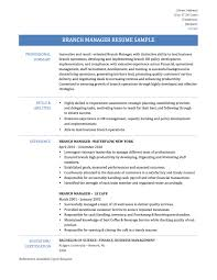 Ideas Collection Sample Bank Manager Resume For Free