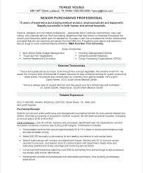 Procurement Resume Examples Nice Specialist Samples Buyer