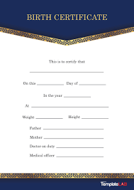 Create your own certificate with our free online certificate maker. 15 Birth Certificate Templates Word Pdf ᐅ Templatelab