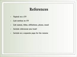 How To List References On A Cv