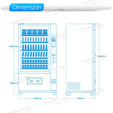 Vending Machines Dimensions New China TcnD4848g Automatic Snack Drink Vending Machine China