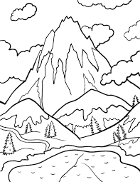 Small Picture Printable mountain coloring page Free PDF download at http