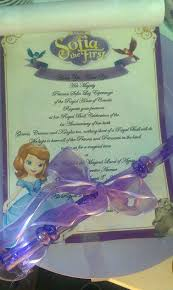 Scroll Birthday Invitations Sofia The 1st Invitations Second Page To The The First Scroll