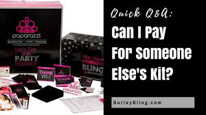 can i pay for someone else s paparazzi jewelry starter kit