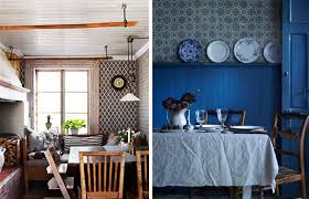 Josef Frank patterns traditional Scandinavian kitchens