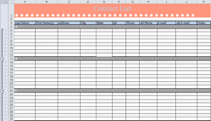 contact spreadsheet template 5 contact list templates formats examples in word excel