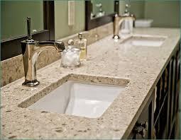 quartz bathroom vanity countertop custom sink installation inside