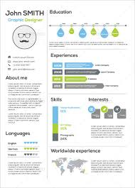 Infographic Resume Template Download Free Templates Sample Example