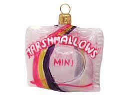 Marshmallow Beutel Glas Pink Lila Christbaumschmuck