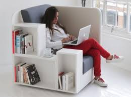 reading nook furniture. contemporary furniture armchair with book shelves space saving reading nook design idea c