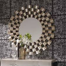 Small Picture Large Round Silver Modern Mirror 120cm Clinks Modern Silver Round